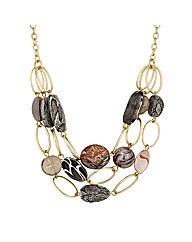Mood Oval Link Multirow Necklace