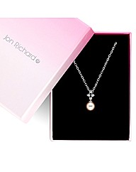 Jon Richard Crystal Top Pearl Pendant