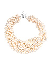 Mood Pearl Plaited Collar Necklace