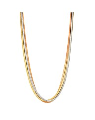 Mood Snake Chain Multirow Necklace