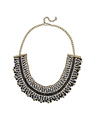 Mood Statement Fabric Collar Necklace