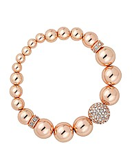 Jon Richard Rose Gold Stretch Bracelet