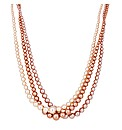 Jon Richard Triple Row Pearl Necklace