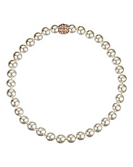 Jon Richard Pearl Crystal Clasp Necklace