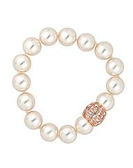 Jon Richard Pearl Crystal Clasp Bracelet