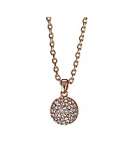 Jon Richard Rose Gold Crystal Pendant