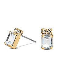 Jon Richard Diamante Baguette Earring