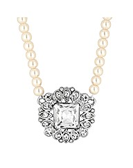 Jon Richard Crystal Pearl Chain Necklace