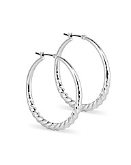 Jon Richard Twist Hoop Earring