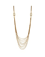 Jon Richard Crystal Multirow Necklace