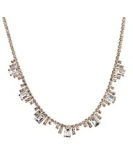 Jon Richard Diamante Baguette Necklace