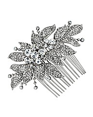 Jon Richard Crystal Leaf Hair Comb