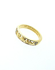 Gold Plated Diamond Guardian Angel Ring