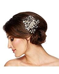 Alan Hannah Crystal Pearl Hair Comb
