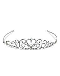 Jon Richard Diamante Heart Swirl Tiara