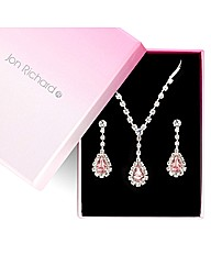 Jon Richard Peardrop Diamante Set