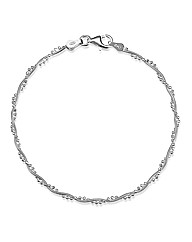 Simply Silver Twisted Chain Bracelet