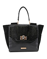 Dolly & Rose Patent Croc Tote