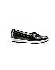Anna Black Patent Flat Shoe