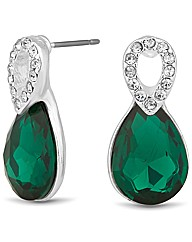 Jon Richard Peardrop Crystal Earring