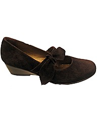Riva Melody Wedge Suede Shoe