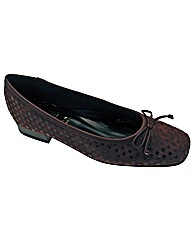 Riva Chequers Ladies Ballerina Shoe
