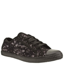 Schuh Curly Lace Up Glitter Lace