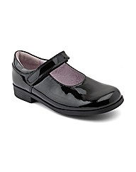 Start-rite Samba Blk Patent Fit E Shoes