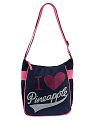 Pineapple Heart Cross Body Bag
