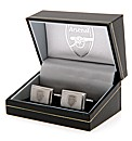 Arsenal S/Steel  Crest Cufflinks
