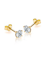 9ct Gold Round Stud Earrings