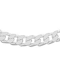 Sterling Silver Heavy Curb Chain 20in