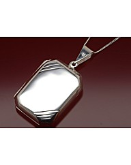 Sterling Silver Rectangle Gents Locket