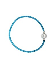 Turquoise Plaited Leather Bracelet