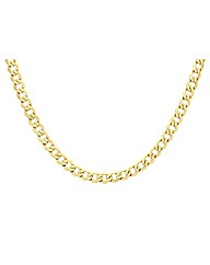 9ct Yellow Gold 6 Sided Curb Chain