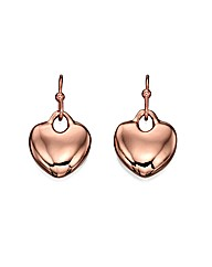 Fiorelli Rose Heart Drop Earrings