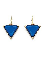 Fiorelli Blue Triangle Drop Earrings