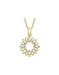 9CT Yellow Gold Ring Necklace