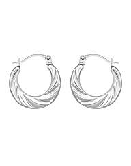 9CT White Gold Mini Twist Earrings