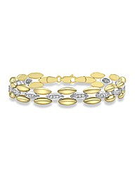 9CT Yellow & White Gold Link Bracelet