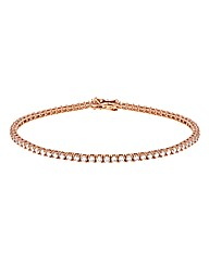 9CT Red Gold Round Tennis Bracelet