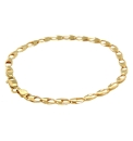 9ct Gold Oval Hollow Link Bracelet