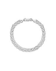 Sterling Silver 6 Strand Bracelet