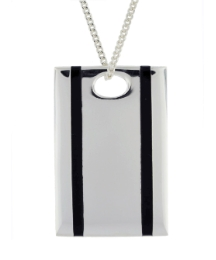 Sterling Silver & Onyx Gents Necklace