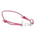 Sterling Silver Pink Cord &Love Bracelet