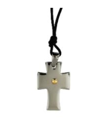 Cross Pendant Necklace on Black Cord