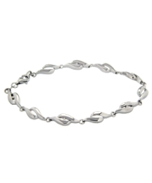 Sterling Silver & Diamond Bracelet