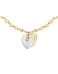 9ct Gold Two Tone Hearts Necklace