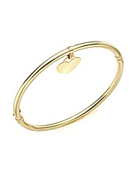 9ct Gold Dangle Heart Bangle