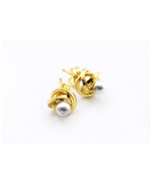 9ct Gold and Perl Galaxy Earring
